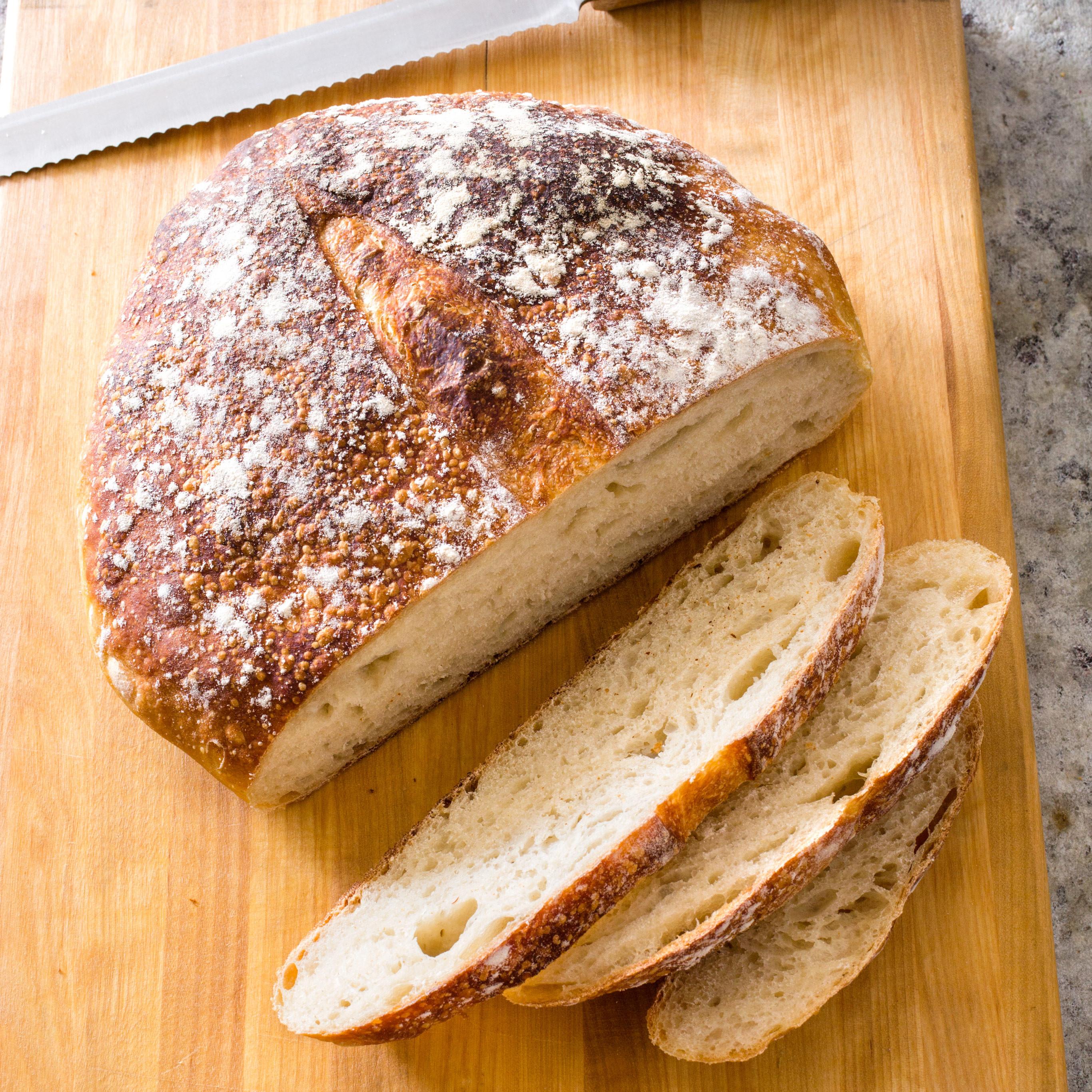 No Knead Sourdough Bread  Almost No Knead Sourdough Bread