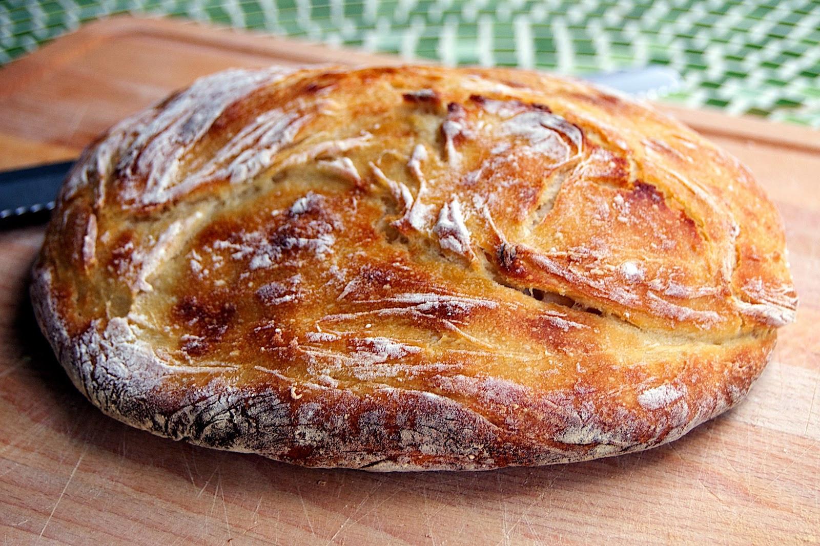 No Knead Sourdough Bread  The Ginger Cook No Knead Sourdough