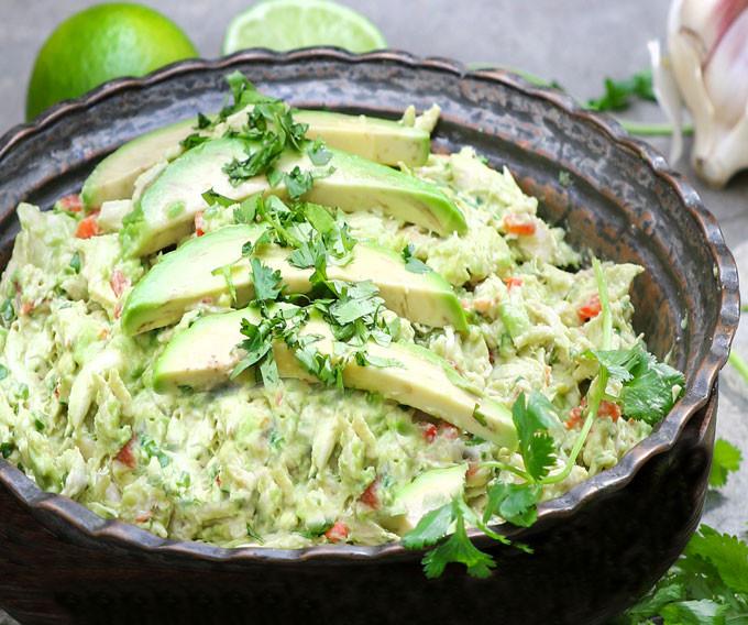 No Mayo Chicken Salad  Venezuelan Avocado Chicken Salad No Mayo No Dairy