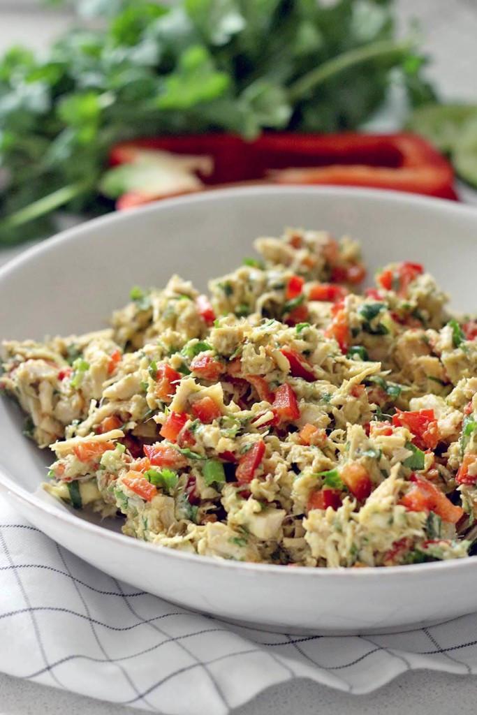 No Mayo Chicken Salad  Fiesta Chicken Salad No Mayo Dairy Free