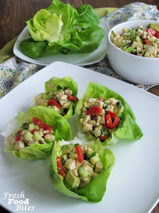 No Mayo Chicken Salad  No Mayo Avocado Chicken Salad Fresh Food Bites