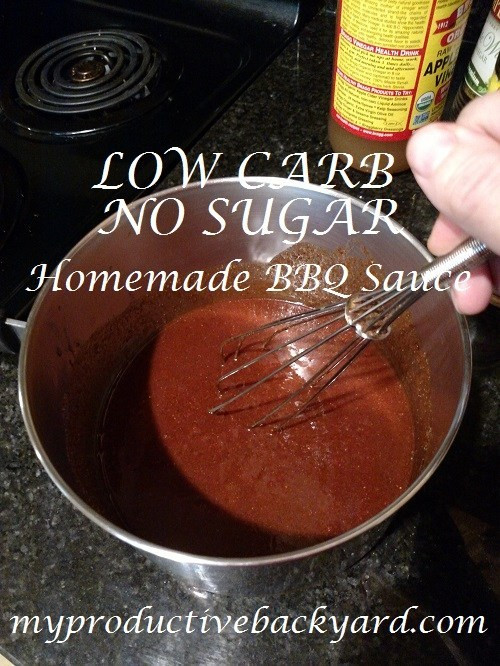 No Sugar Bbq Sauce  Low Carb No Sugar Homemade BBQ Sauce My Productive Backyard