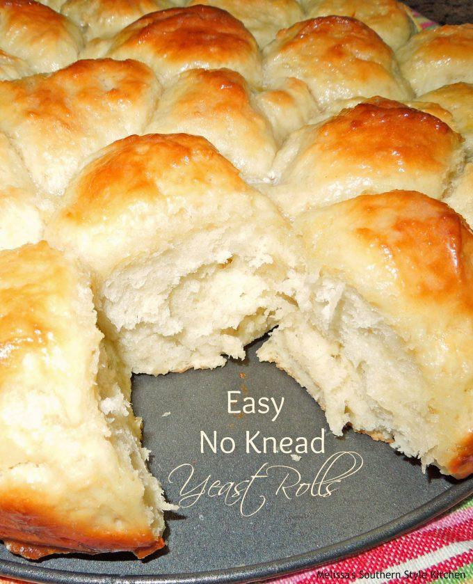 No Yeast Bread Recipe  Easy No Knead Yeast Rolls melissassouthernstylekitchen