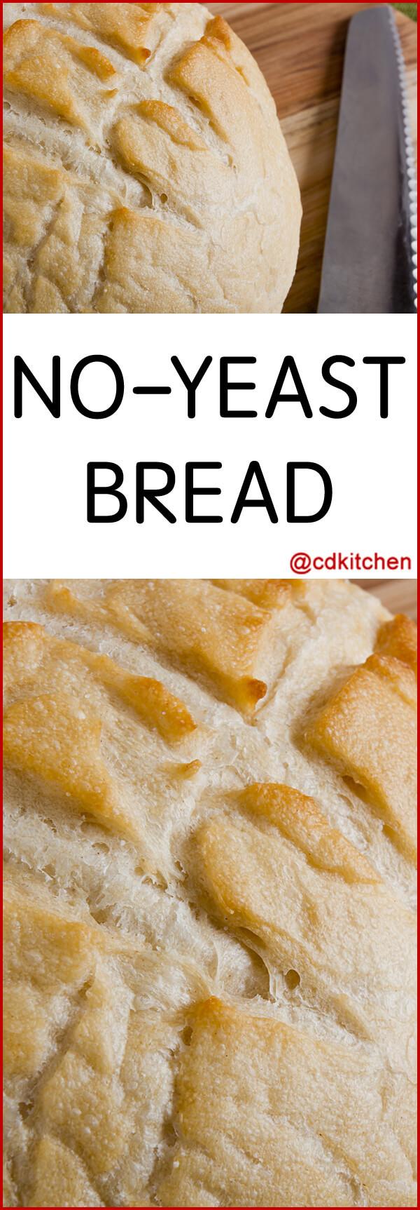 No Yeast Bread Recipe  easy bread recipe no yeast no baking powder