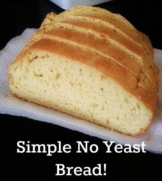 No Yeast Bread Recipe  easy sourdough bread no yeast