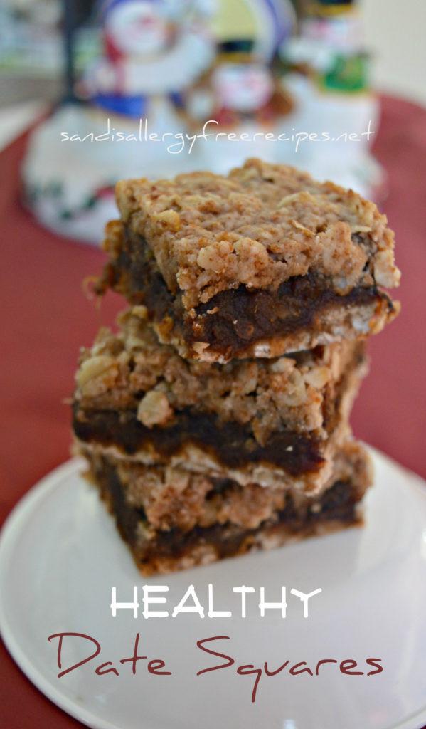 Nut Free Desserts  Healthy Date Squares Gluten Free Dairy Free Vegan