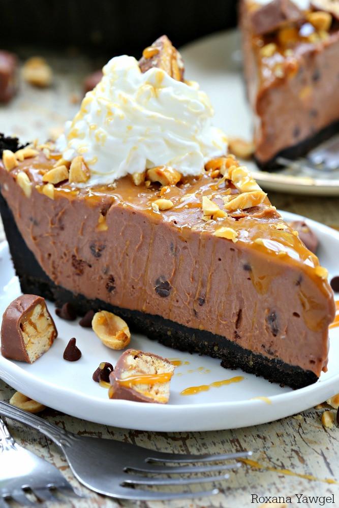 Nutella Dessert Recipes  No bake Nutella Snickers pie recipe
