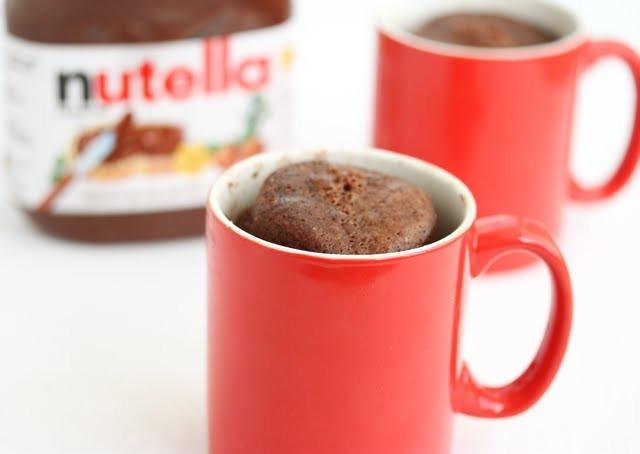 Nutella Mug Cake  Pure Nutella Mug Cake Kirbie s Cravings