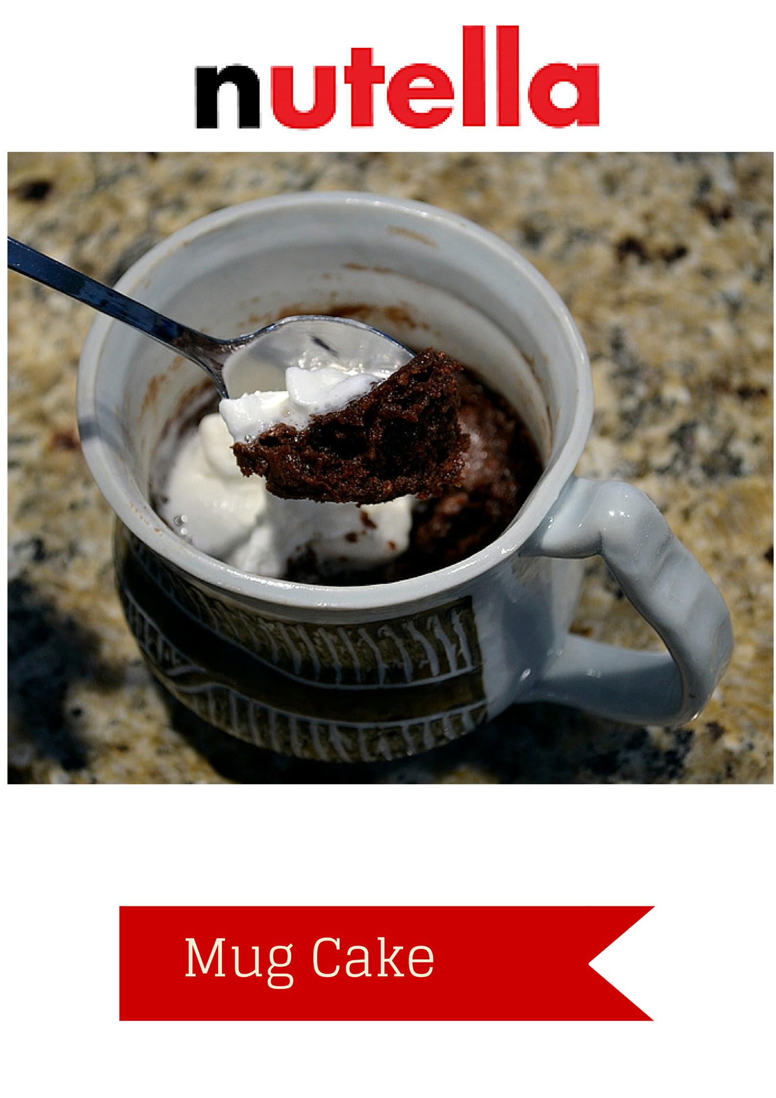 Nutella Mug Cake  Super Quick and Easy Nutella Mug Cake Moms Own Words