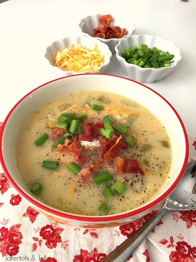 O Charley'S Loaded Potato Soup Recipe  Pressure Cooker Loaded Baked Potato Soup Instant Pot