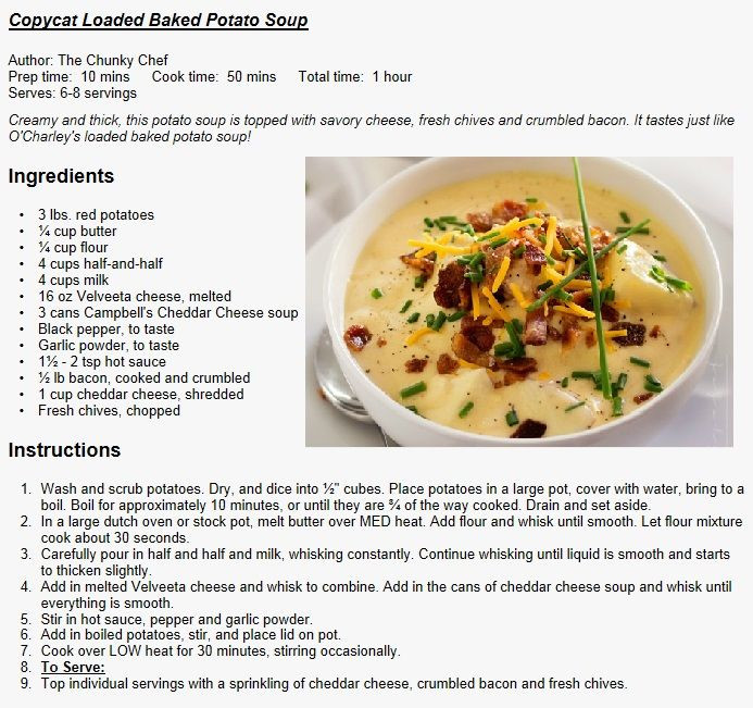 O Charley'S Loaded Potato Soup Recipe  17 Best images about Copycat Recipes on Pinterest