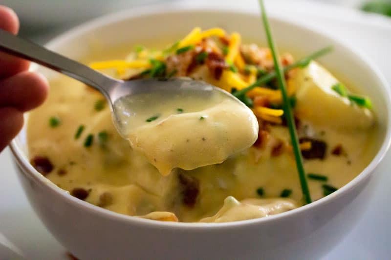 O Charley'S Loaded Potato Soup Recipe  Copycat Loaded Baked Potato Soup The Chunky Chef
