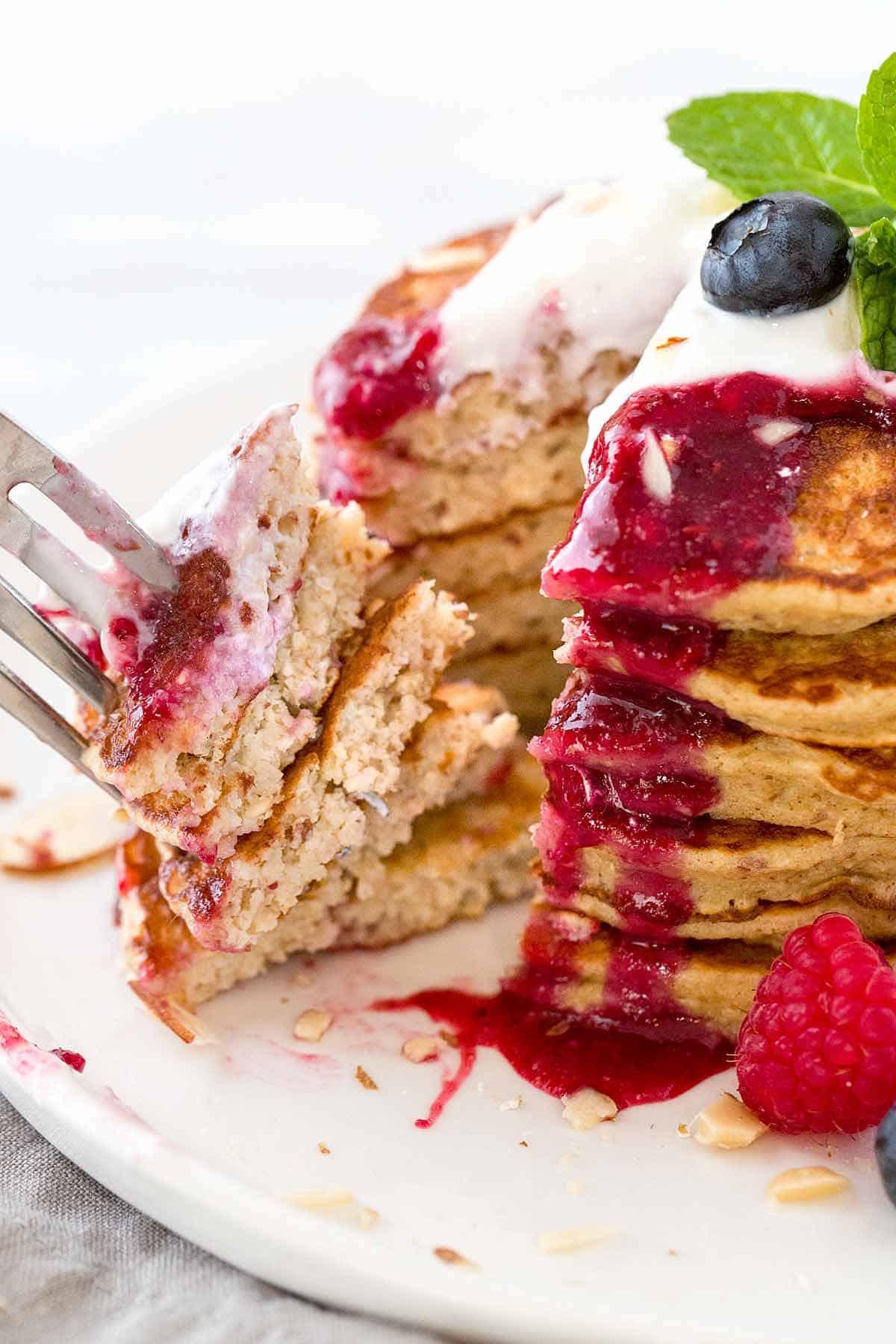 Oat Pancakes Healthy  healthy oatmeal pancake recipe