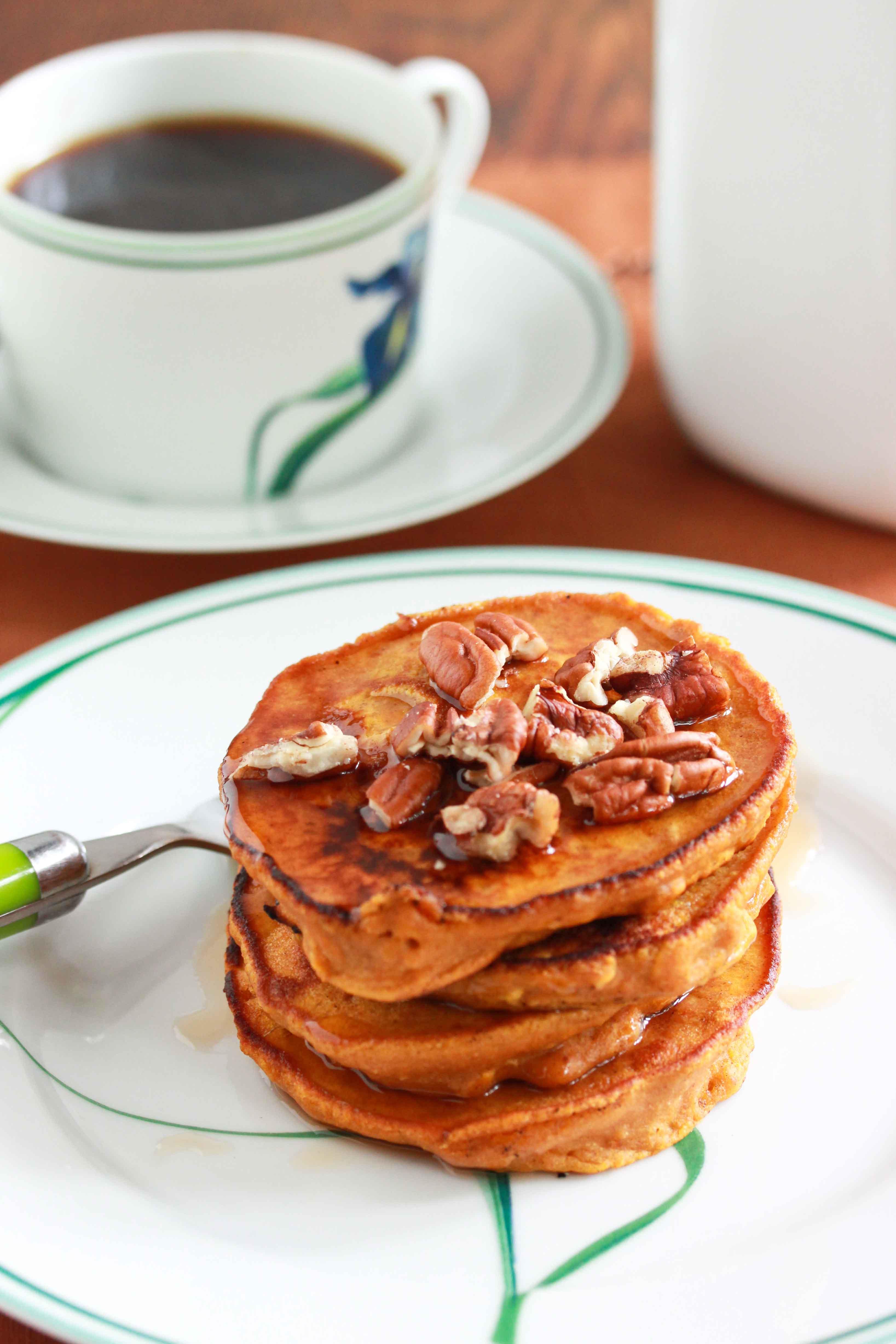 Oat Pancakes Healthy  Healthy Oatmeal Pumpkin Pancakes Overtime Cook