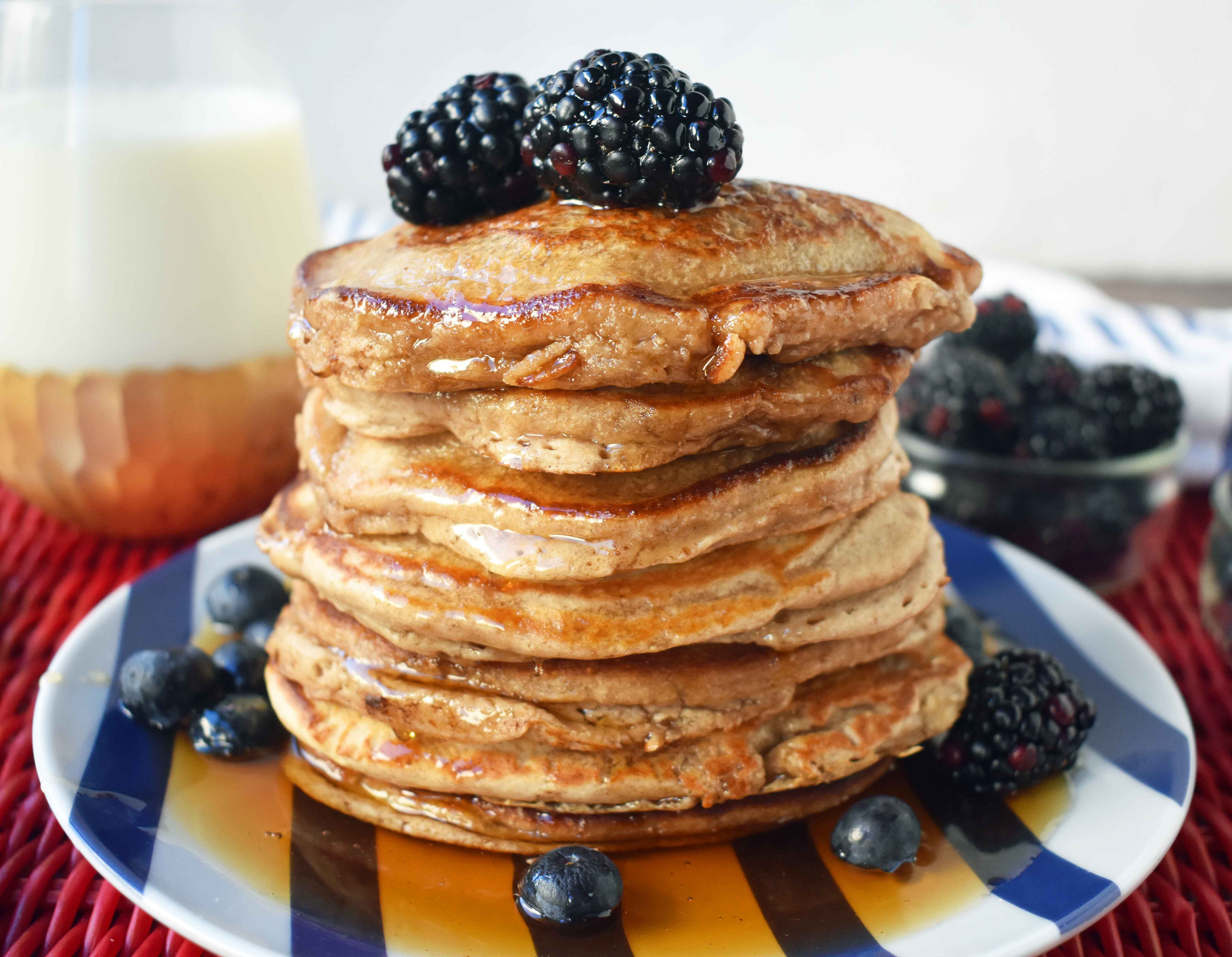 Oat Pancakes Healthy  Banana Oatmeal Pancakes – Modern Honey