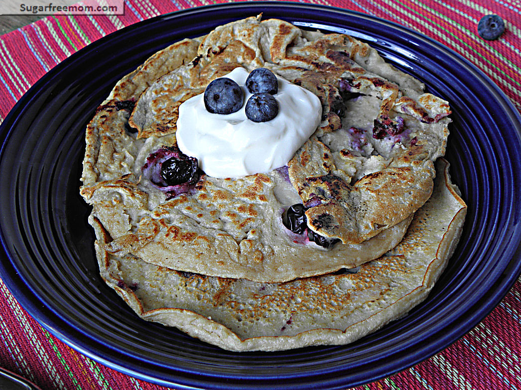Oat Pancakes Healthy  Healthy Blueberry Oat Pancakes No Sugar Added