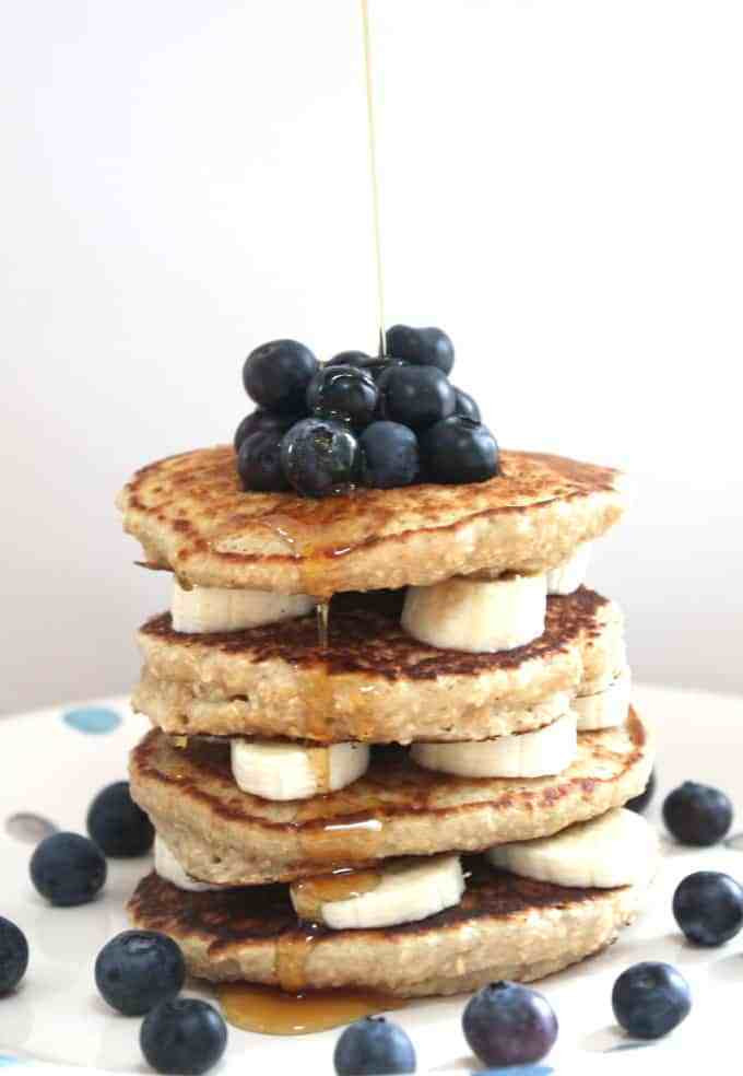 Oat Pancakes Healthy  Oat Pancakes with Banana & Blueberries My Fussy Eater