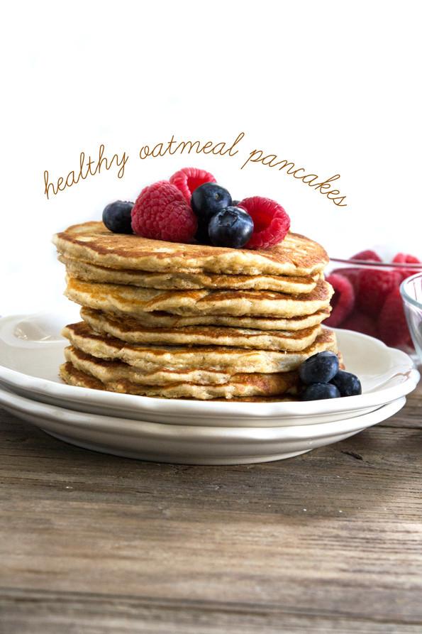 Oat Pancakes Healthy  Gluten Free Oatmeal Pancakes