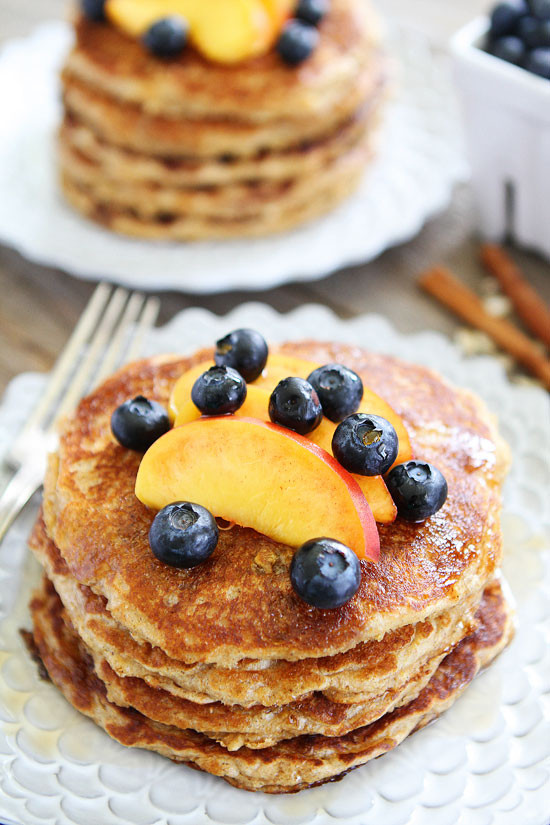Oat Pancakes Healthy  Cinnamon Oatmeal Pancake Recipe
