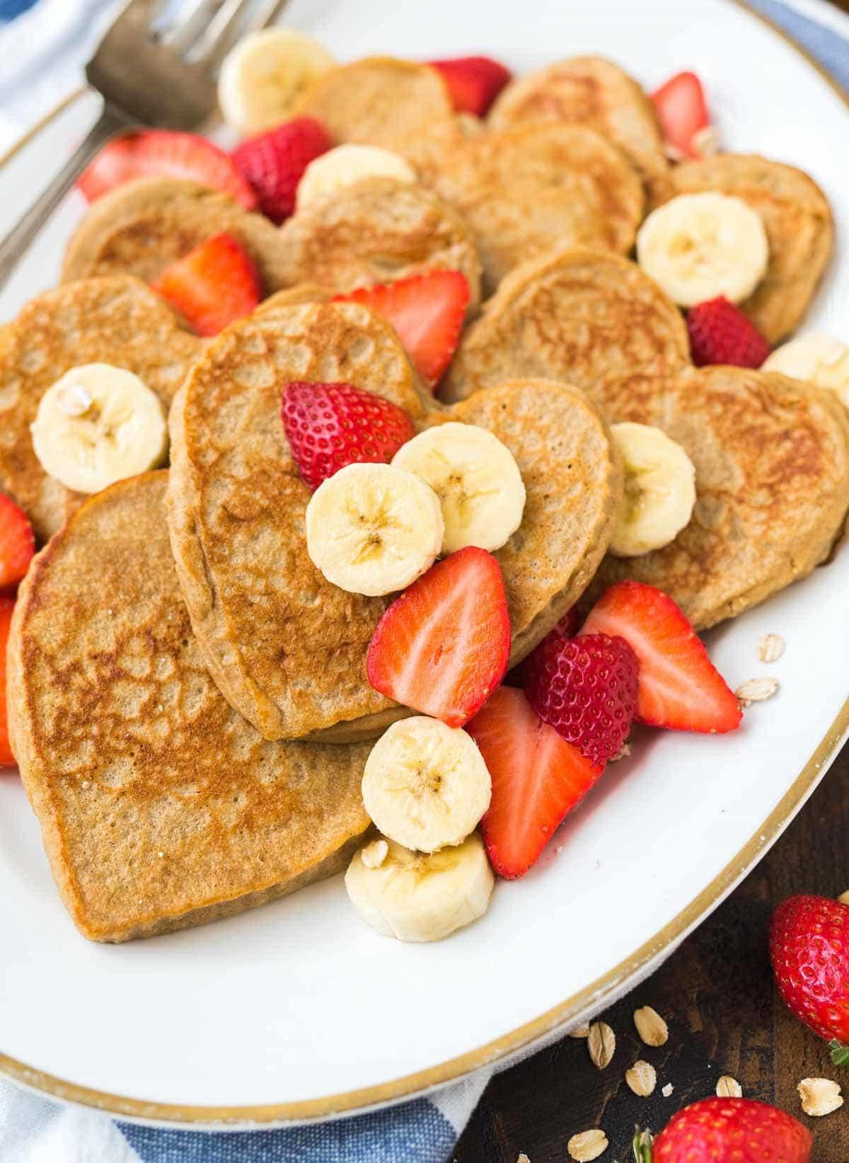 Oat Pancakes Healthy  Banana Oatmeal Pancakes