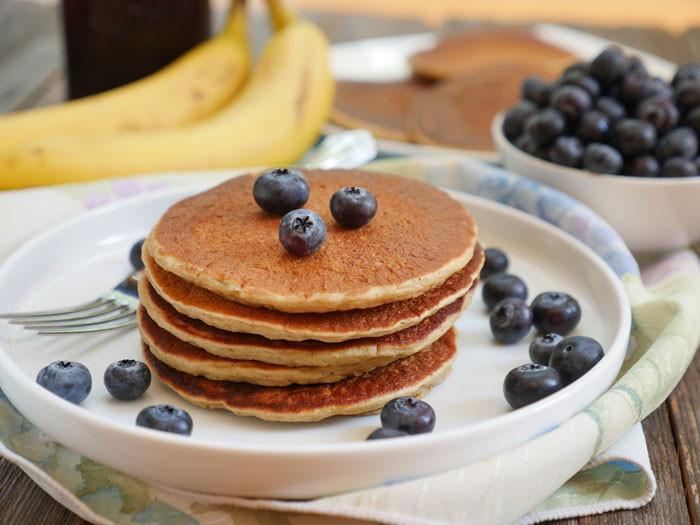 Oatmeal Banana Pancakes  Healthy Oatmeal Banana Pancakes Gluten free
