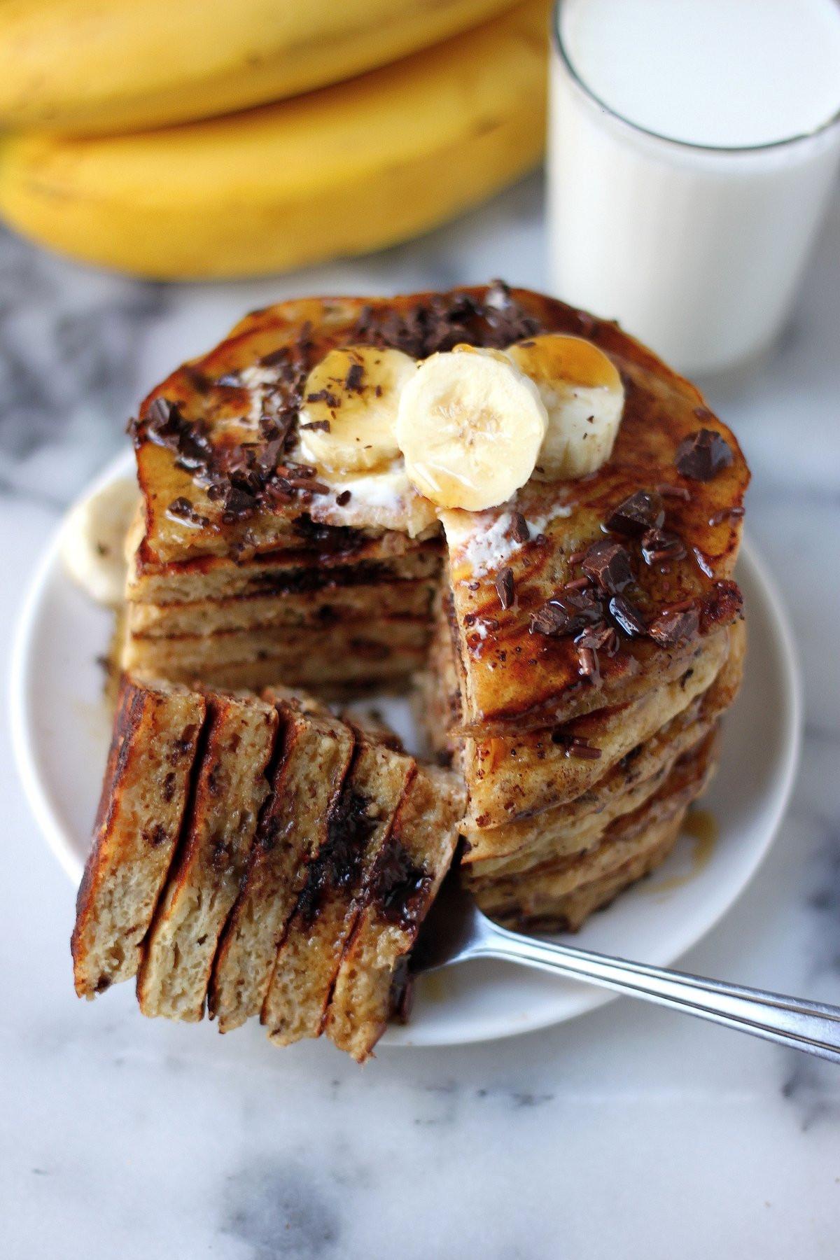 Oatmeal Banana Pancakes  Best Ever Banana Oat Pancakes Baker by Nature