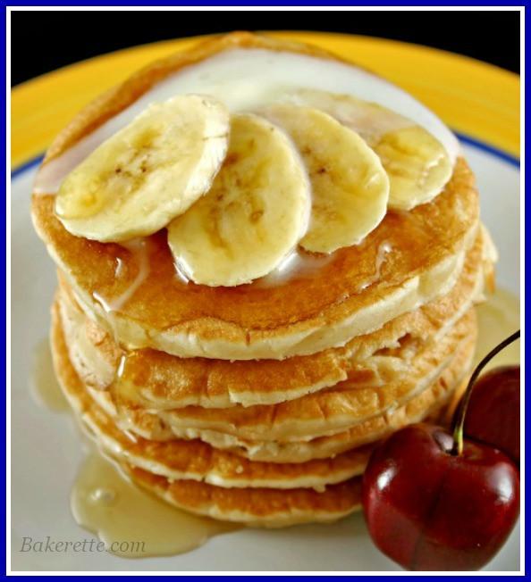 Oatmeal Banana Pancakes  banana oat pancakes vegan
