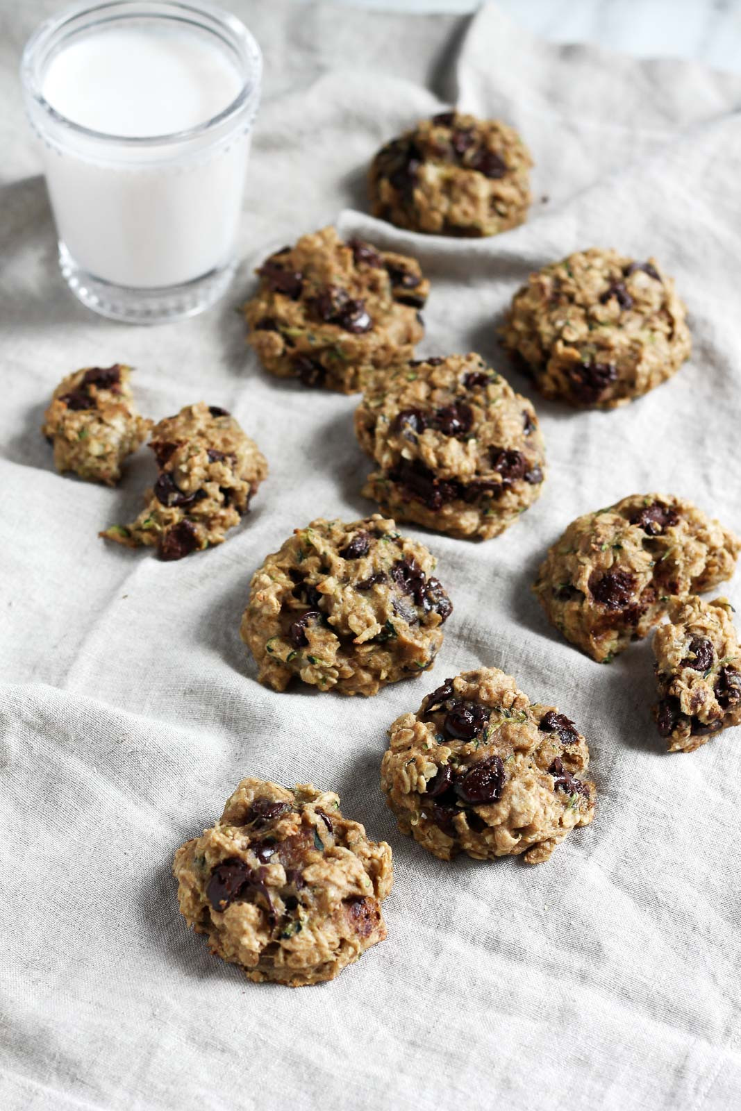 Oatmeal Chocolate Chip Cookies Healthy  Healthy Chocolate Chip Zucchini Oatmeal Cookies