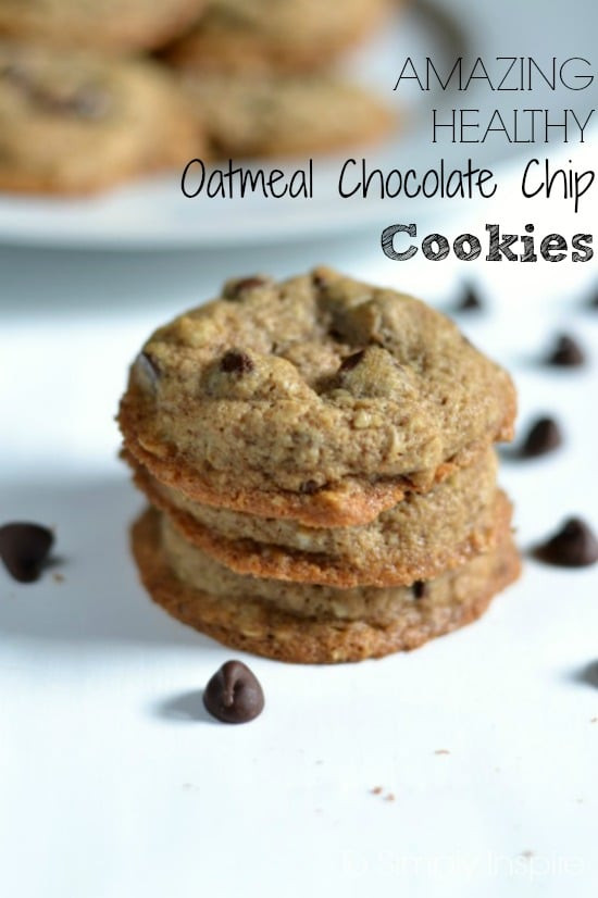 Oatmeal Chocolate Chip Cookies Healthy  Amazing Healthy Oatmeal Chocolate Chip Cookies