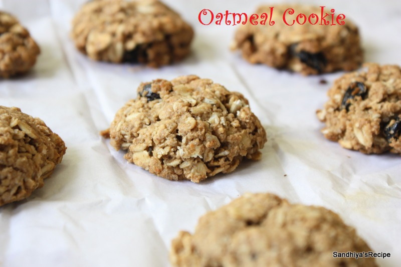 Oatmeal Cookies Without Eggs  Sandhiya s Cookbook Oatmeal Cookie
