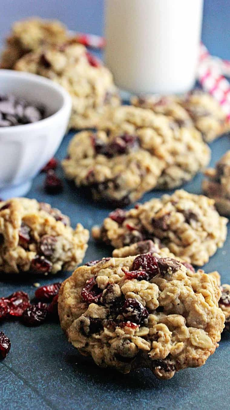 Oatmeal Cranberry Cookies  Dark Chocolate and Cranberry Oatmeal Cookies Grandbaby Cakes