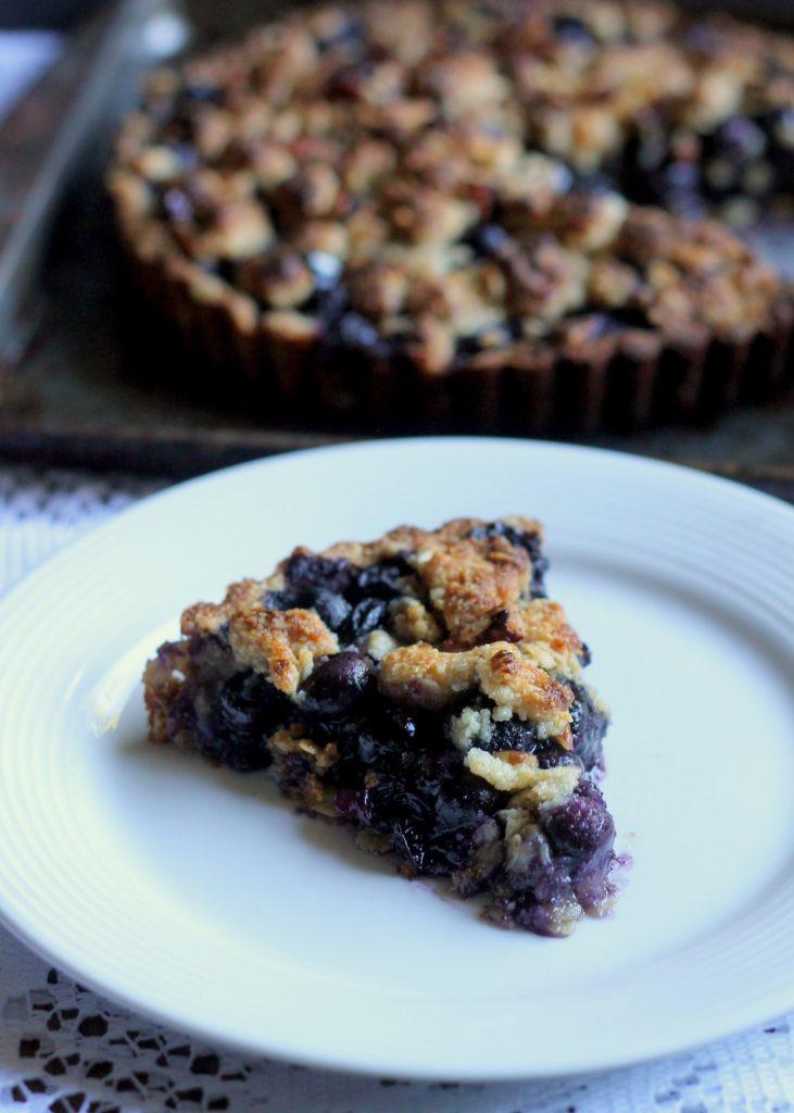 Oatmeal Dessert Recipe  Blueberry Crisp Tart with Oatmeal Crust GF Vegan Bakerita