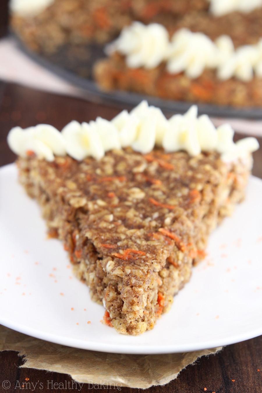 Oatmeal Dessert Recipe  Carrot Cake Oatmeal Cookie Cake