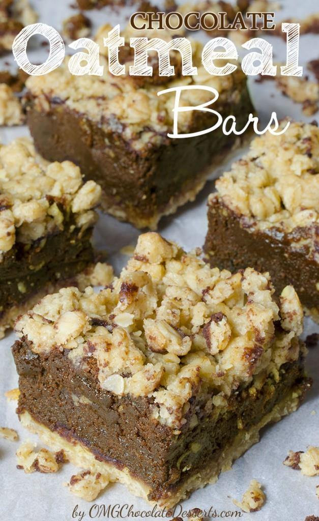 Oatmeal Dessert Recipes  Chocolate Oatmeal Bars