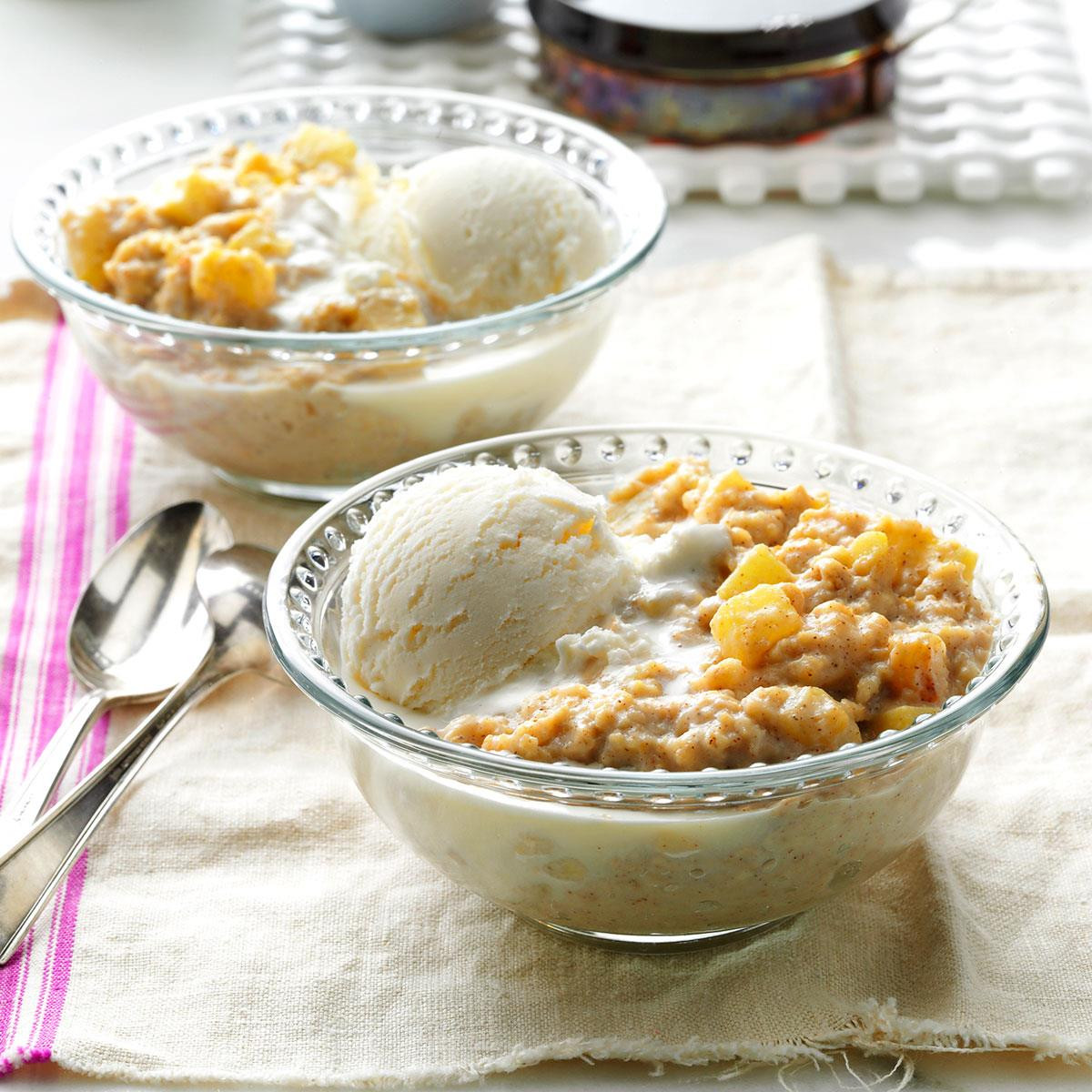 Oatmeal Dessert Recipes  Apple Pie Oatmeal Dessert Recipe