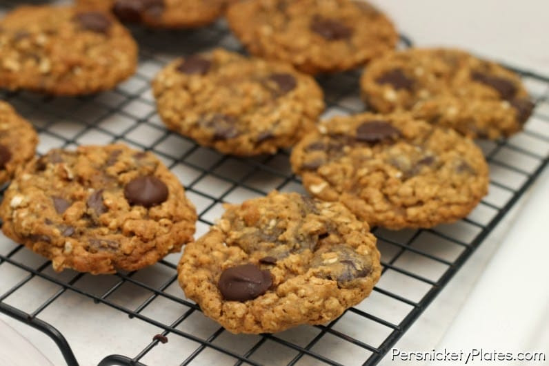 Oatmeal Molassas Cookies  Oatmeal Molasses Chocolate Chip Cookies Persnickety Plates