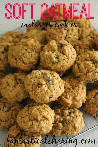 Oatmeal Molassas Cookies  Fantastical Sharing of Recipes Soft Oatmeal Raisin