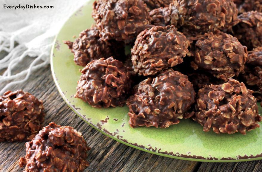 Oatmeal No Bake Cookies  Chocolate Oatmeal Peanut Butter No Bake Cookies Recipe
