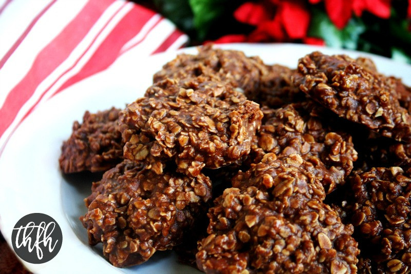 Oatmeal No Bake Cookies  Gluten Free Vegan Chocolate Peanut Butter Oatmeal No Bake