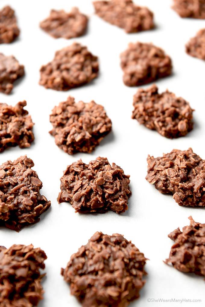 Oatmeal No Bake Cookies  Chocolate Coconut Oatmeal No Bake Cookies Recipe
