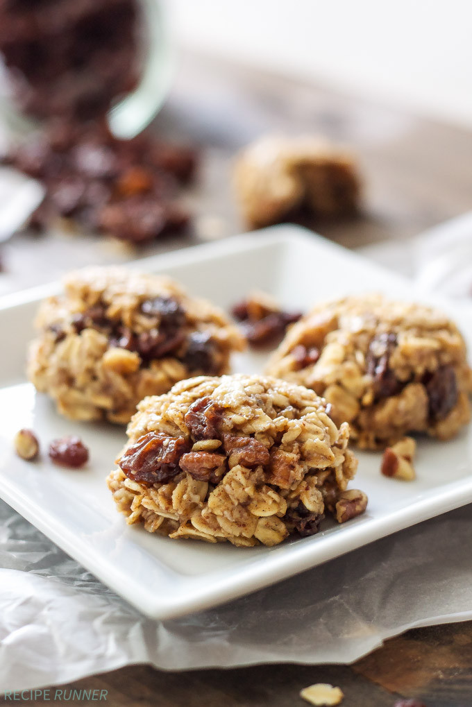 Oatmeal No Bake Cookies  Healthy No Bake Oatmeal Raisin Cookies Recipe Runner