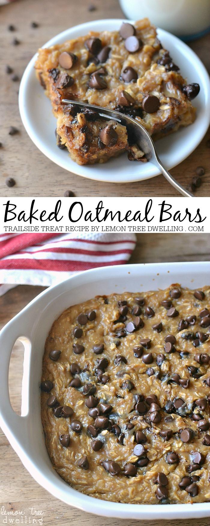 Oatmeal Recipe For Breakfast  Baked Oatmeal Trailside Treat Bars The 36th AVENUE