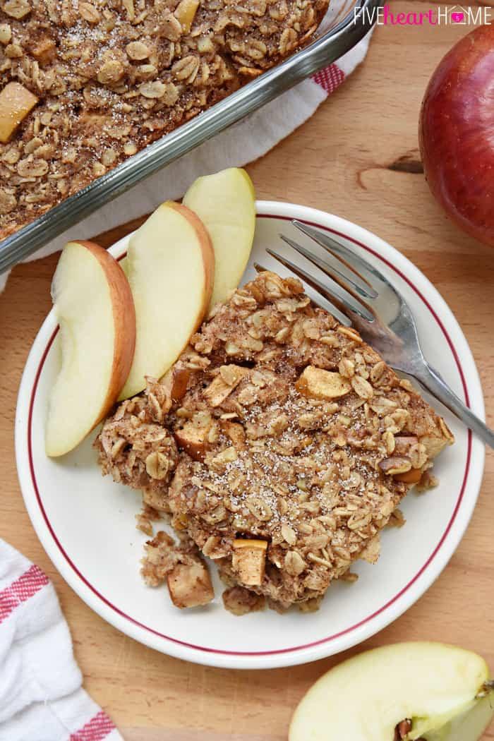 Oatmeal Recipe For Breakfast  Apple Cinnamon Baked Oatmeal