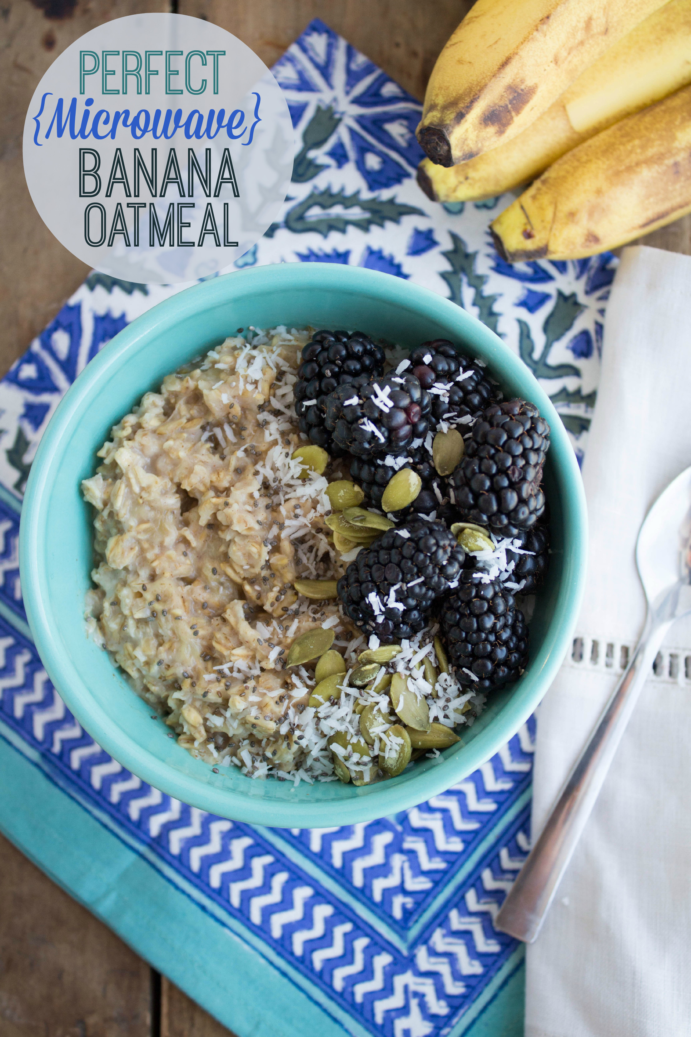 Oatmeal Recipe For Breakfast  Perfect Microwave Banana Oatmeal Recipe