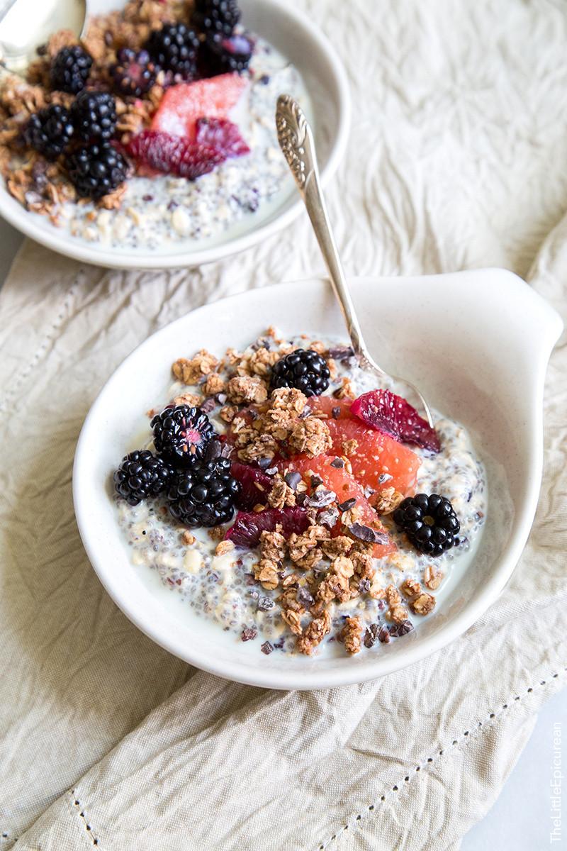 Oatmeal Recipe For Breakfast  Chia Oatmeal Breakfast Bowl The Little Epicurean