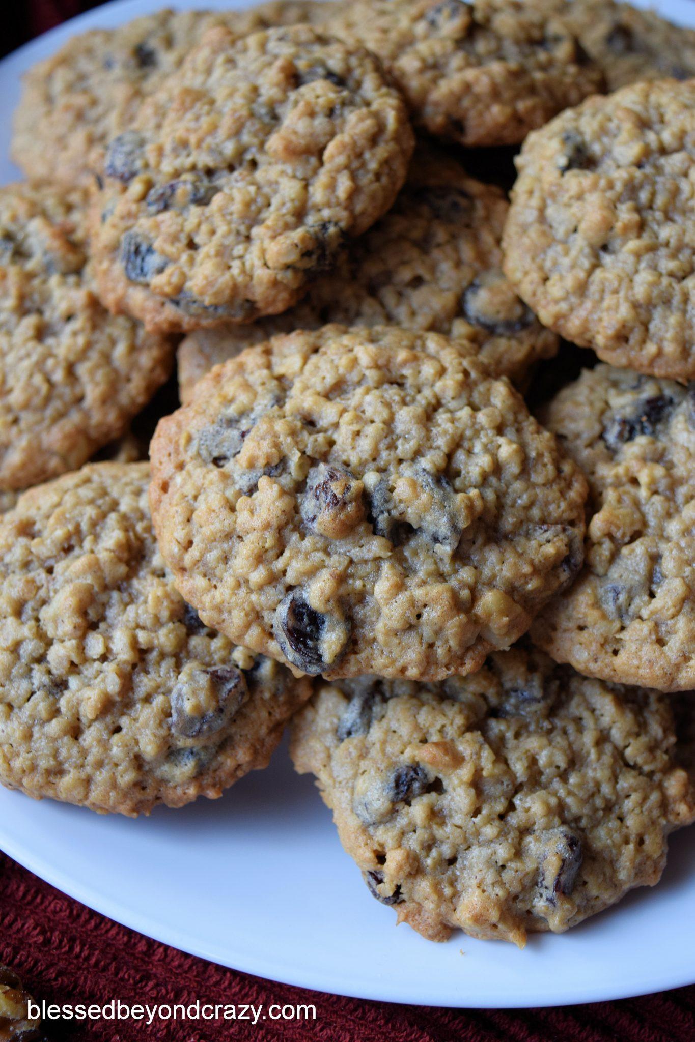 Oatmeal Walnut Cookies  Oatmeal Raisin Walnut Cookies