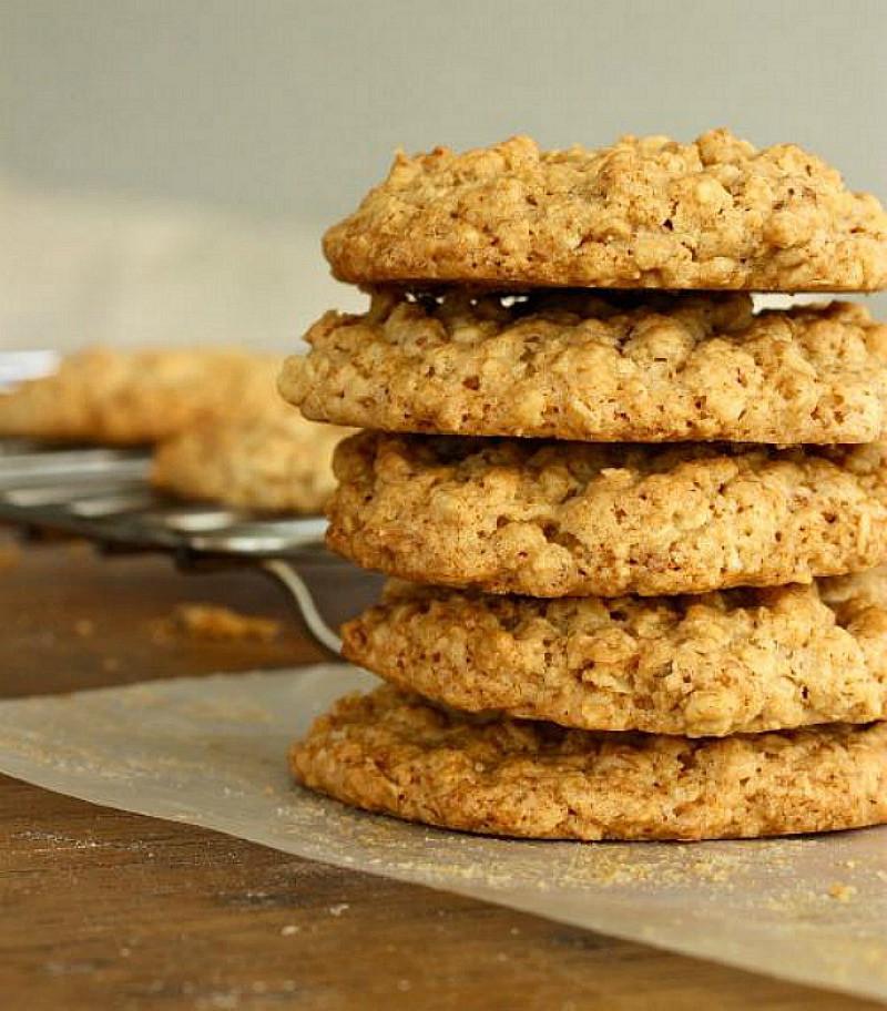 Oatmeal Walnut Cookies  Easy Oatmeal Walnut cookies Vintage Kitchen
