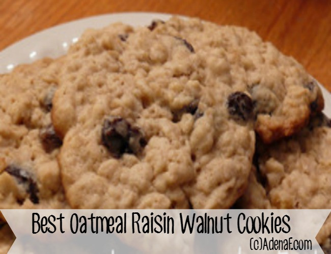 Oatmeal Walnut Cookies  Best Oatmeal Raisin Walnut Cookies Recipe Virtual Cookie