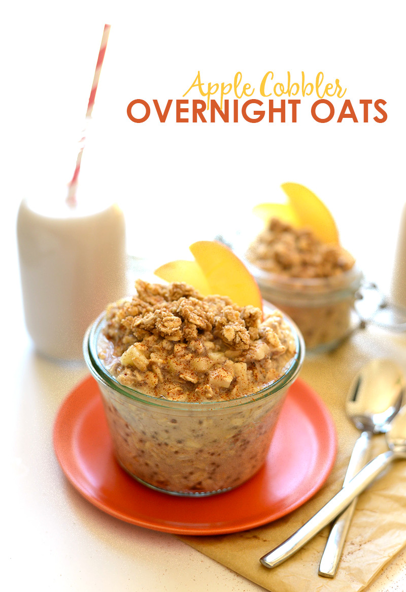 Oats For Breakfast  Apple Cobbler Overnight Oats Recipe