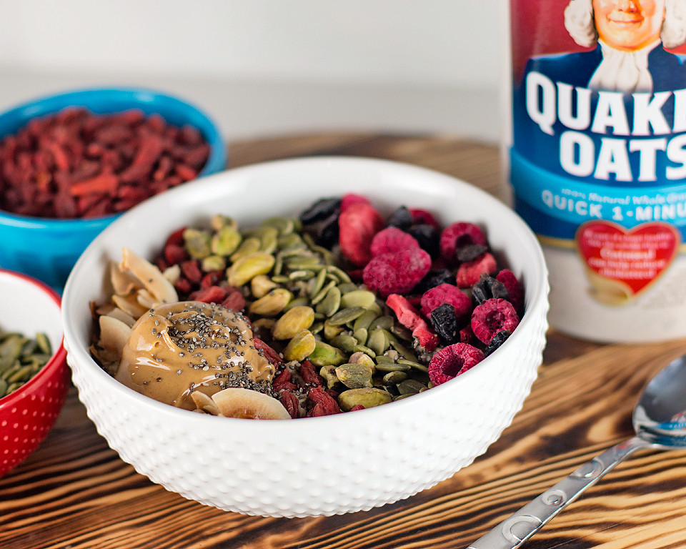 Oats For Breakfast  Oatmeal Breakfast Bowl xoxoBella